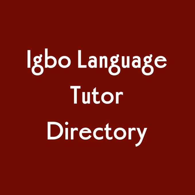Igbo Tutor Directory